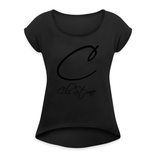 Cli Stone - Women's T-Shirt with rolled up sleeves