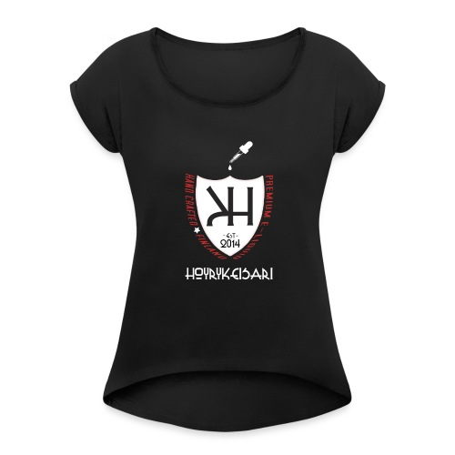KUV - hk2015paita - Naisten T-paita, jossa rullatut hihat
