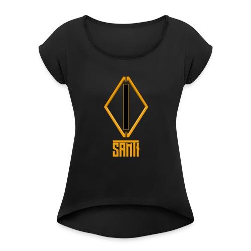 Samt[i] Basics - Frauen T-Shirt mit gerollten Ärmeln