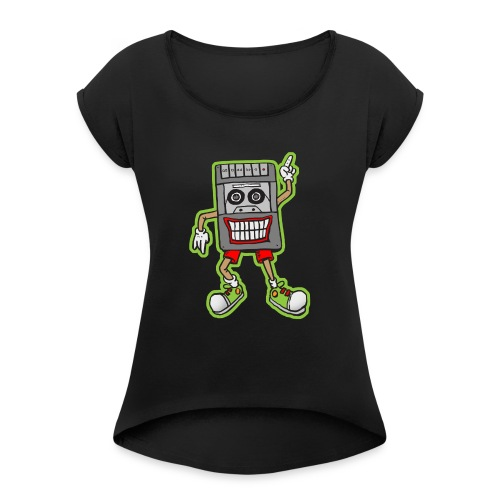 Mr Cassette Recorder - Women's T-Shirt with rolled up sleeves