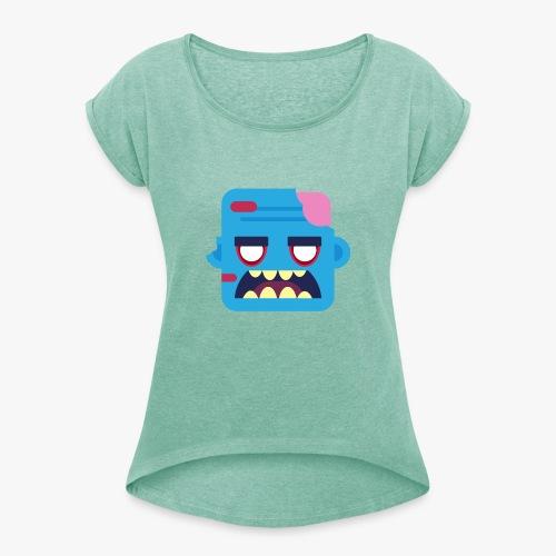 Mini Monsters - Zombob - Dame T-shirt med rulleærmer