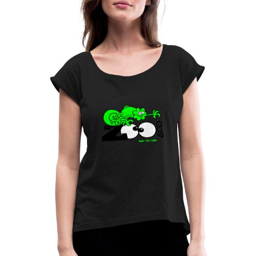Zooco Chameleon - Women's T-Shirt with rolled up sleeves
