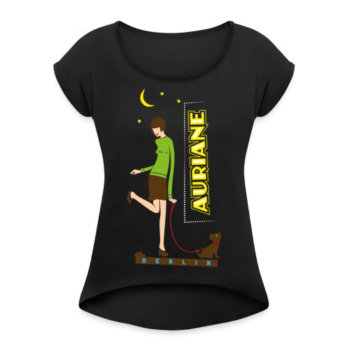 Berliner Luft - Frauen T-Shirt mit gerollten Ärmeln