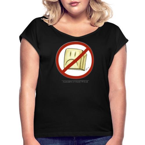 No Squares - Frauen T-Shirt mit gerollten Ärmeln