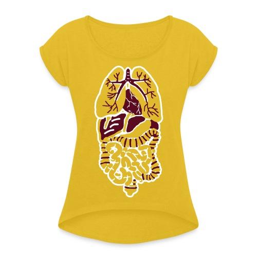 Rumpf - Frauen T-Shirt mit gerollten Ärmeln