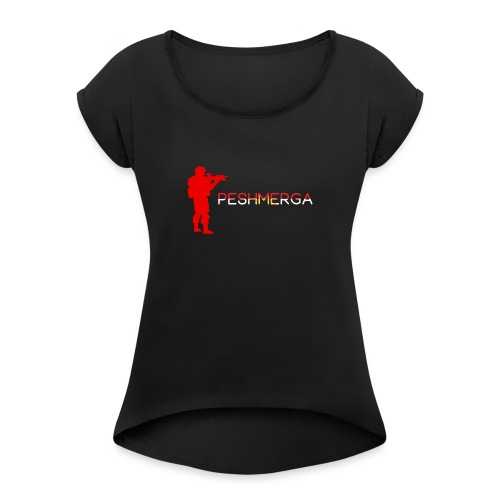 Peshmerga x1 - Vrouwen T-shirt met opgerolde mouwen