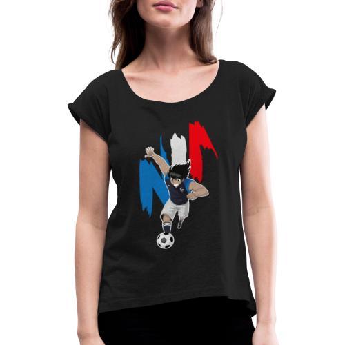 HYUGA FRANCE - COUPE DU MONDE - RUSSIE 2018 - T-shirt à manches retroussées Femme