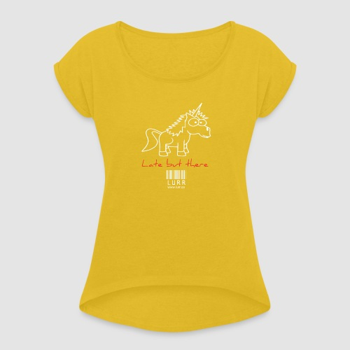 lurr unicorn - Women's T-Shirt with rolled up sleeves