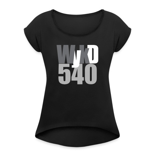 WykD 540 Grey - Women's T-Shirt with rolled up sleeves