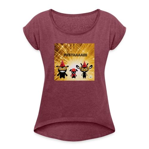 Fiestaaa - T-shirt à manches retroussées Femme