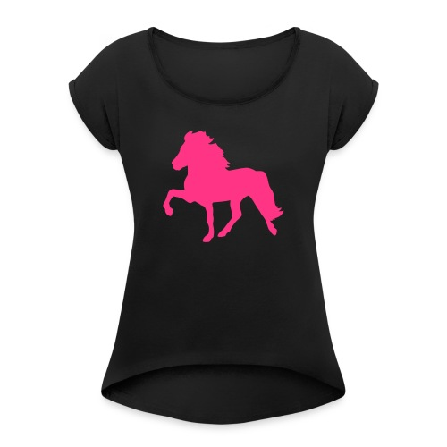 Tölter - Frauen T-Shirt mit gerollten Ärmeln