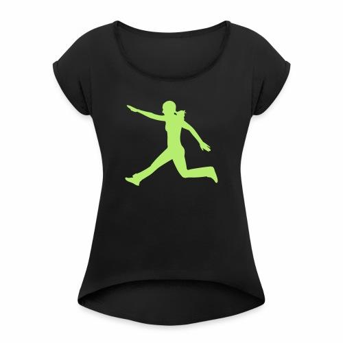 Kraft und Takt - Frauen T-Shirt mit gerollten Ärmeln