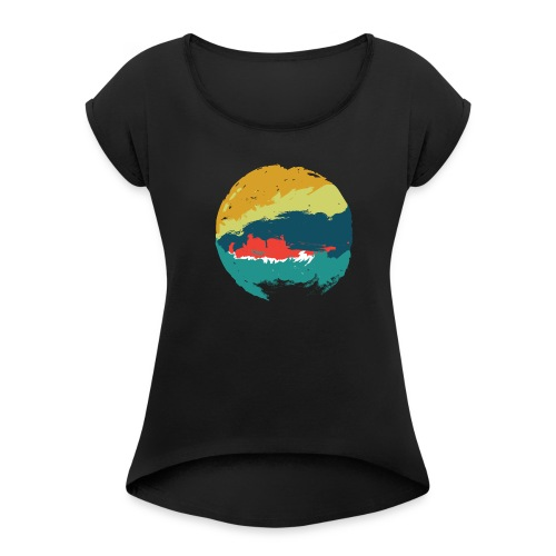 Abstract Art - Women's T-Shirt with rolled up sleeves