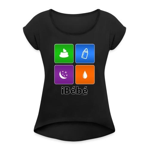iBébé - T-shirt à manches retroussées Femme