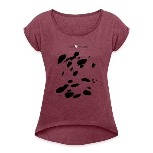Coperta Appaloosa (nero/rosso) - Maglietta da donna con risvolti