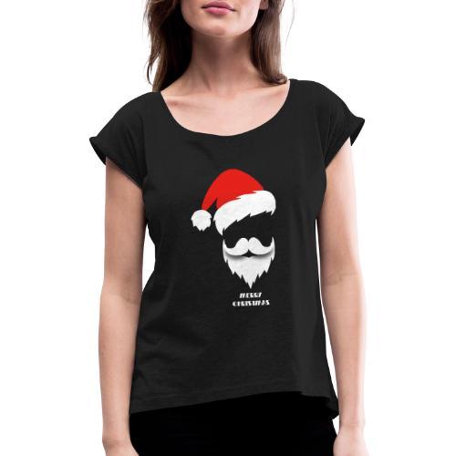 Christmas2 - Vrouwen T-shirt met opgerolde mouwen