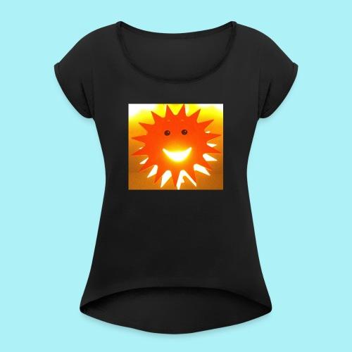 Soleil Souriant - T-shirt à manches retroussées Femme