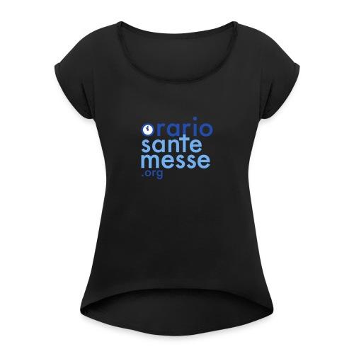 Orario Sante Messe T-shirt front - Maglietta da donna con risvolti