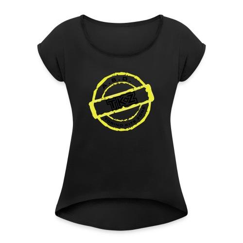 LOGO_DEFINITIVO - Maglietta da donna con risvolti