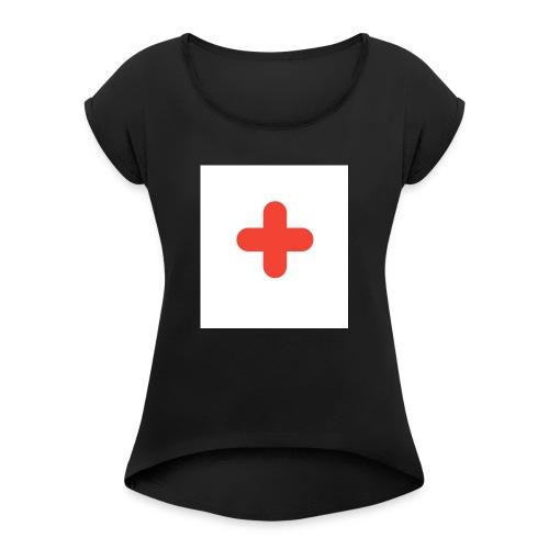 1463822394674 - T-shirt med upprullade ärmar dam