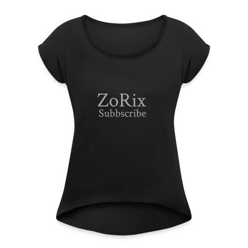 ZoRix shop.com - T-shirt med upprullade ärmar dam