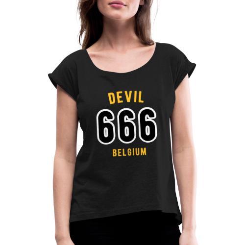 666 devil Belgium - T-shirt à manches retroussées Femme