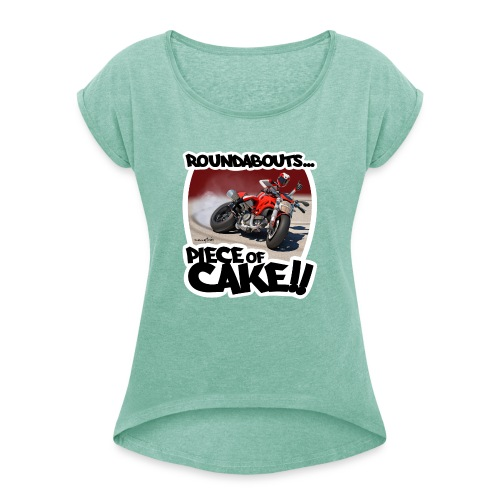 Ducati Monster Skidding - Camiseta con manga enrollada mujer