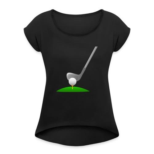 Golf Ball PNG - Camiseta con manga enrollada mujer