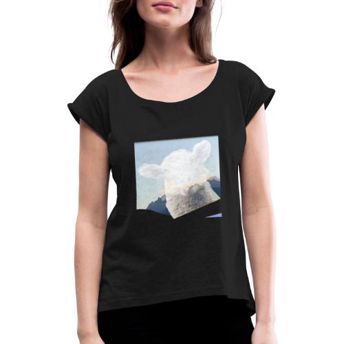 Schaf - Frauen T-Shirt mit gerollten Ärmeln