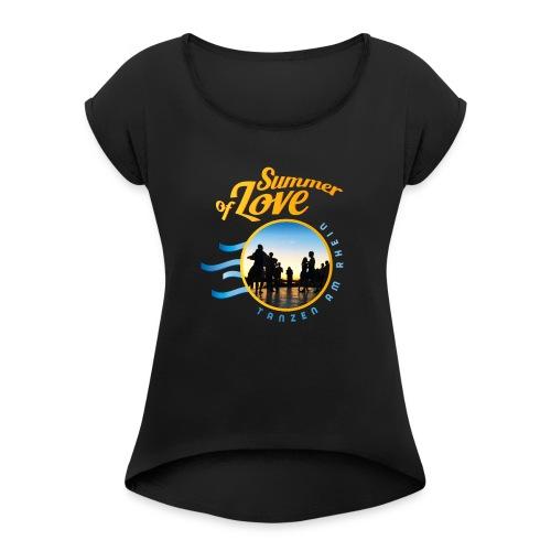 Tanzen_Shirtmotiv_D - Frauen T-Shirt mit gerollten Ärmeln