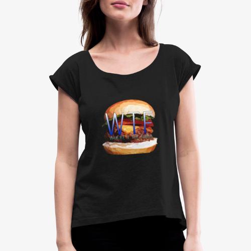 Where's my food - T-shirt à manches retroussées Femme