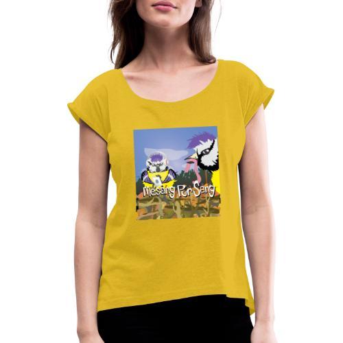 Mesang Pur Sang - Vrouwen T-shirt met opgerolde mouwen