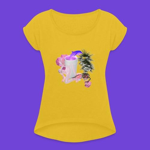 Purple Drank - Maglietta da donna con risvolti