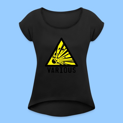 VariousExplosions Triangle (2 colour) - Women's T-Shirt with rolled up sleeves