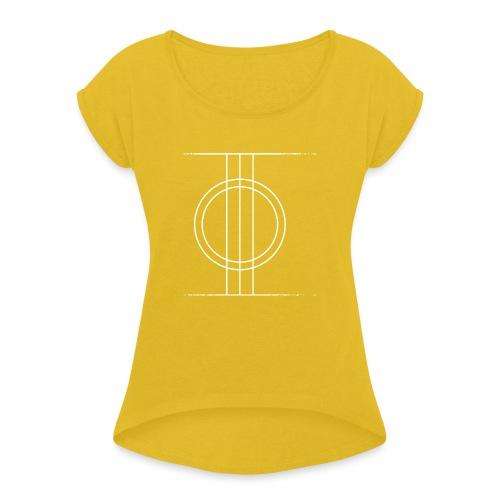 Sapmi black - T-skjorte med rulleermer for kvinner