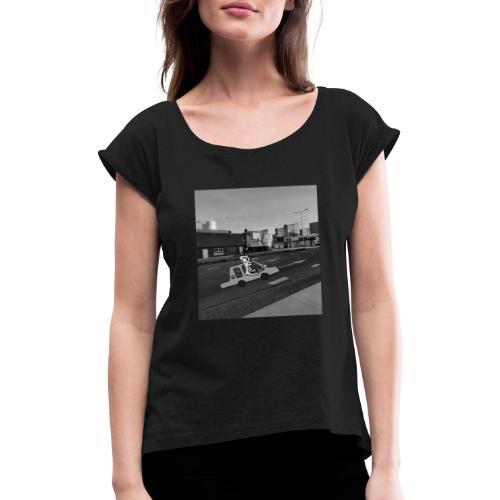 auto - Vrouwen T-shirt met opgerolde mouwen