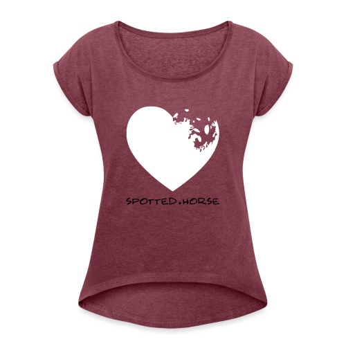 Cuore Appaloosa (bianco/rosso) - Maglietta da donna con risvolti