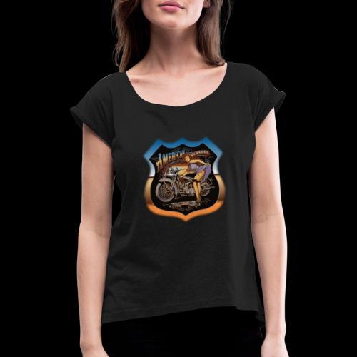 AMERICAN CLASSIC - Frauen T-Shirt mit gerollten Ärmeln