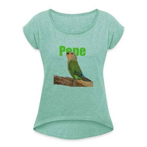 Pepe - Naisten T-paita, jossa rullatut hihat