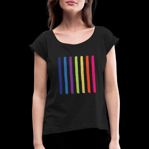 Lines - Women's T-Shirt with rolled up sleeves