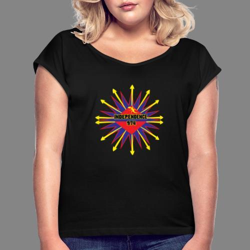 Independence 974 - T-shirt à manches retroussées Femme