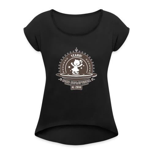 Sopravvissuta al 2016 - Marrone - Maglietta da donna con risvolti
