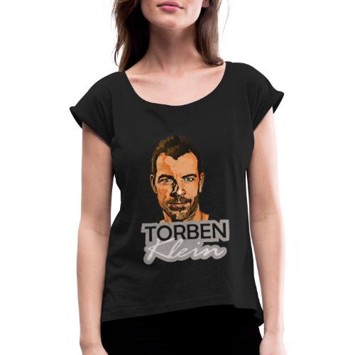 Torben GIF - Frauen T-Shirt mit gerollten Ärmeln