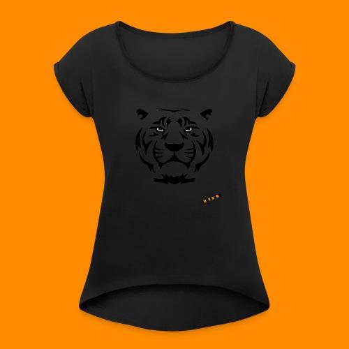 TheTigers Original T-Shirt - Maglietta da donna con risvolti