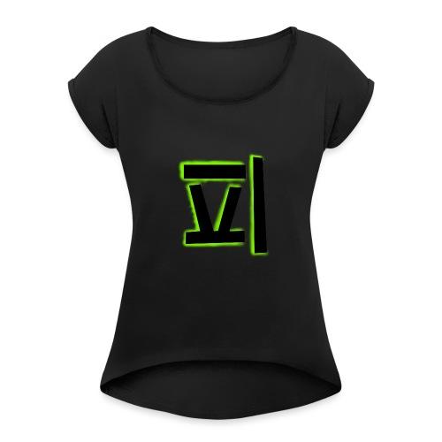 gr--nare_swezo - T-shirt med upprullade ärmar dam