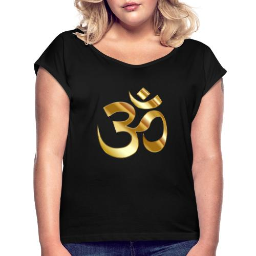 OM - Camiseta con manga enrollada mujer