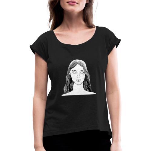 Mandy02 - Frauen T-Shirt mit gerollten Ärmeln