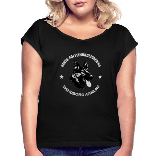 Svendborg PH hvid skrift - Dame T-shirt med rulleærmer