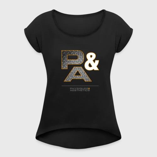 P&A - Camiseta con manga enrollada mujer