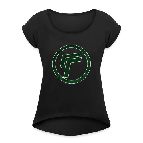 Naamloos 1 png - Women's T-Shirt with rolled up sleeves